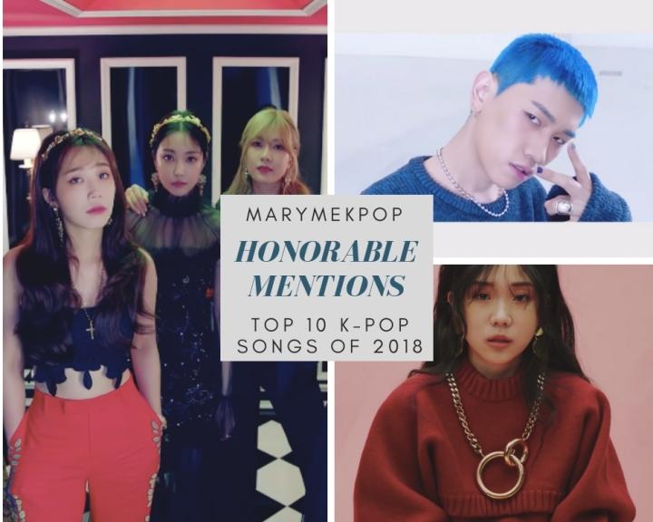 MaryMeKpop: Top 10 K-Pop Songs of 2018 (pt. 1/3) – HonorableMentions